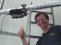 HydroFlow P100 en un tubo de 2 pulgadas