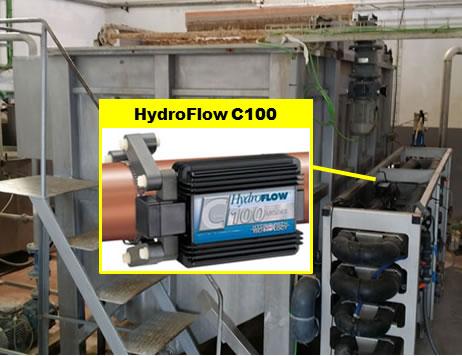 HydroFlow flocula físicamente el fango.